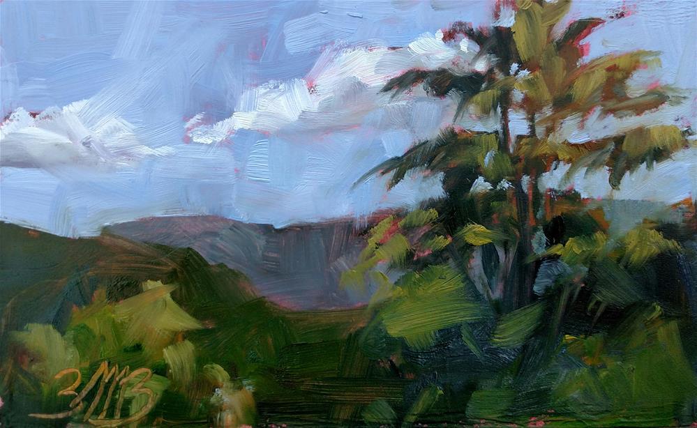 """""""Summer View"""" original fine art by Brienne M Brown"""