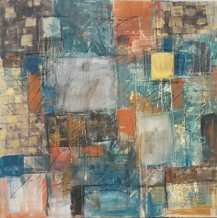 """""""Oasis"""" original fine art by Terri Einer"""
