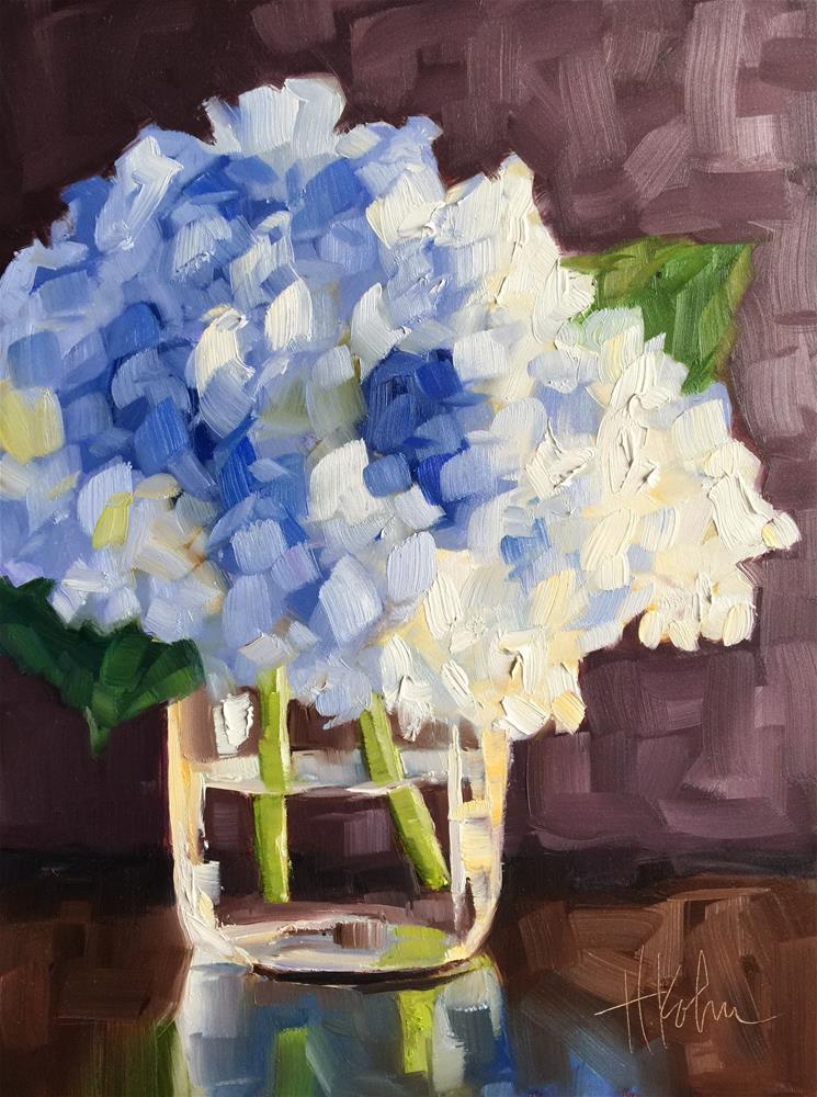 """Hydrangea Glow"" original fine art by Hallie Kohn"