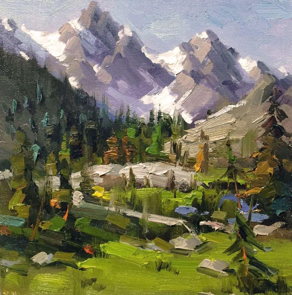 """The Mountain Remodel Challenge"" original fine art by Mostafa Keyhani"