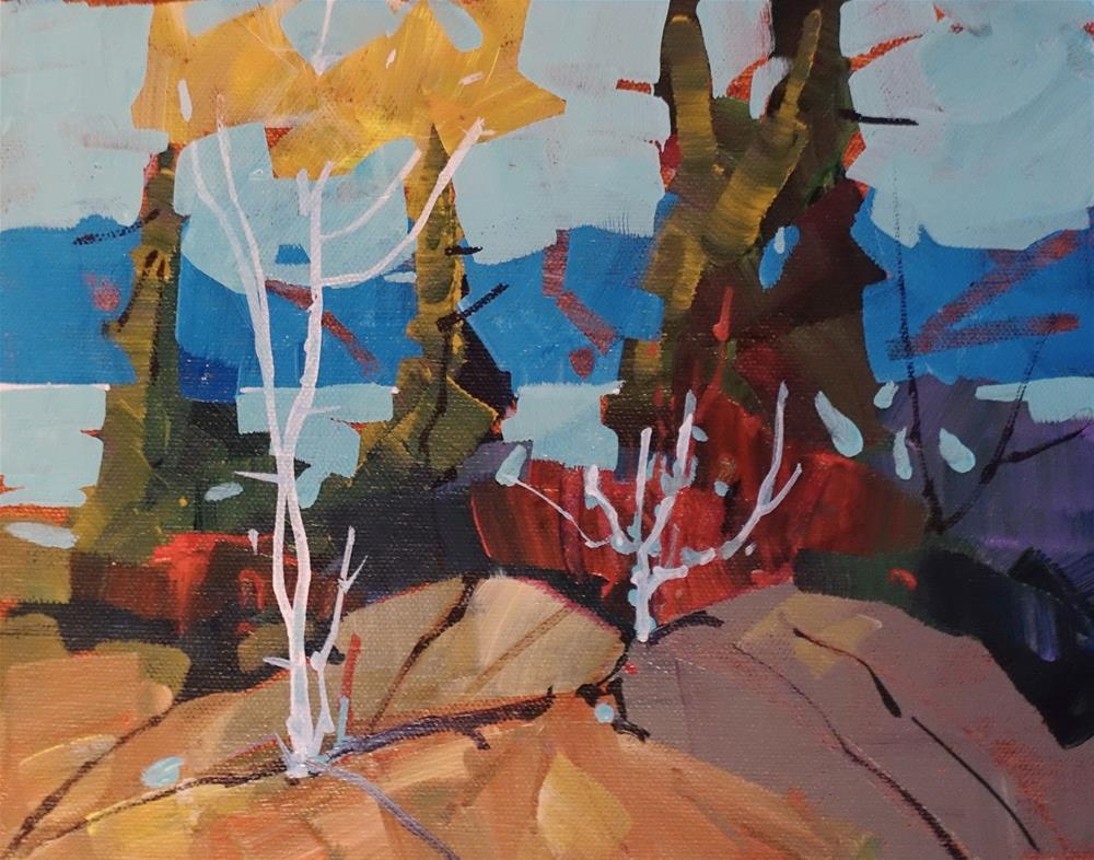"""Yellow Rocks"" original fine art by Brian Buckrell"