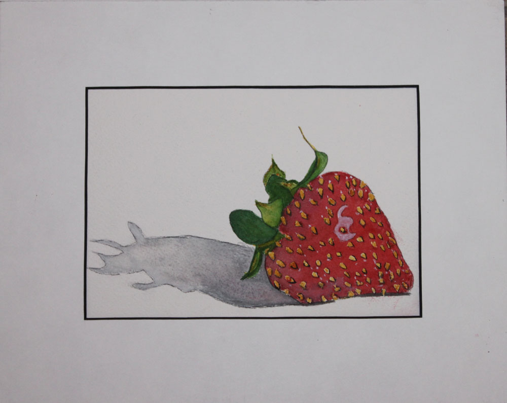 """""""Berry Lonely"""" original fine art by Christiane Kingsley"""