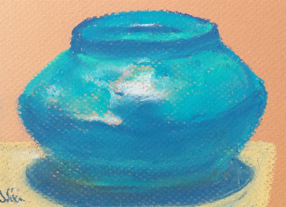 """Pot in Blue"" original fine art by Niki Hilsabeck"