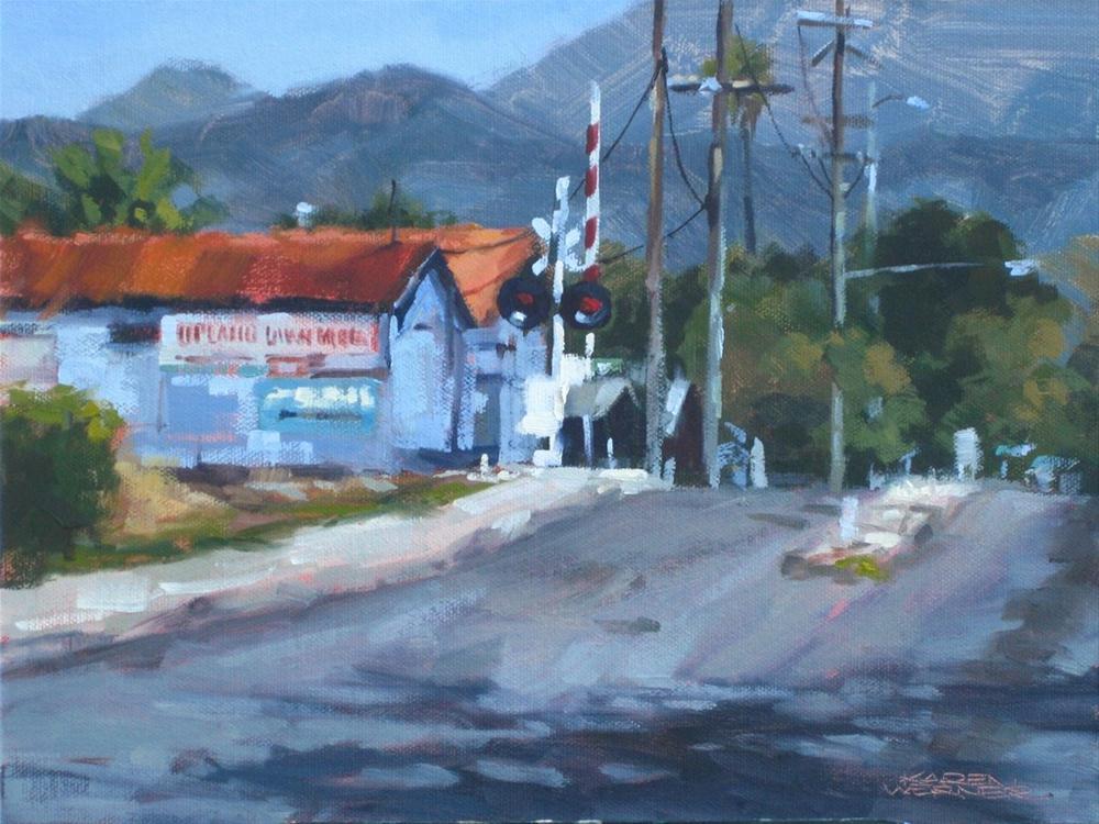 """""""North On Campus"""" original fine art by Karen Werner"""