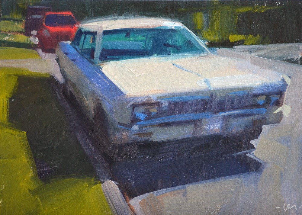 """Your Brother's Car"" original fine art by Carol Marine"