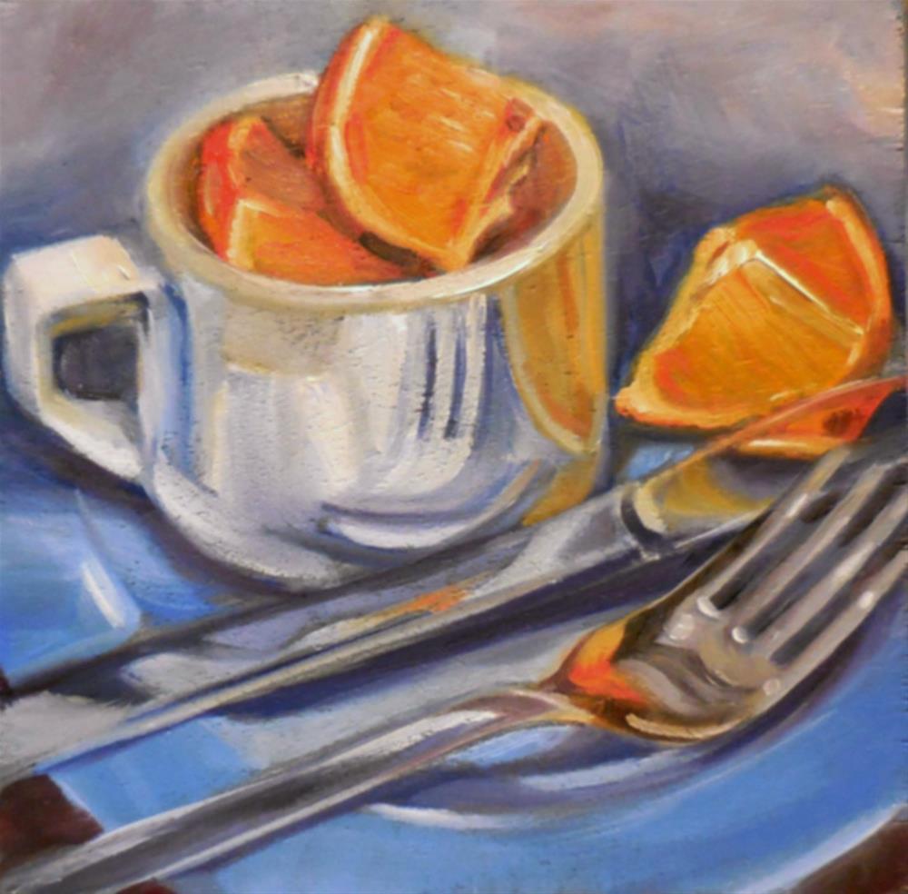 """Periwinkle Plate"" original fine art by Beth Moreau"