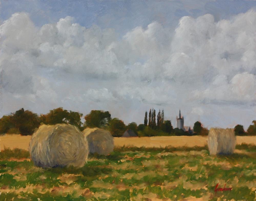 """""""Harvest"""" original fine art by Graham Townsend"""
