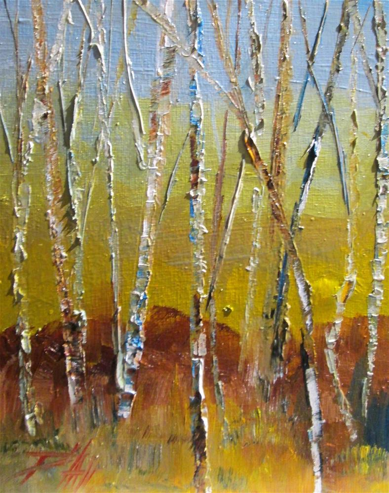 """Birch Trees"" original fine art by Delilah Smith"