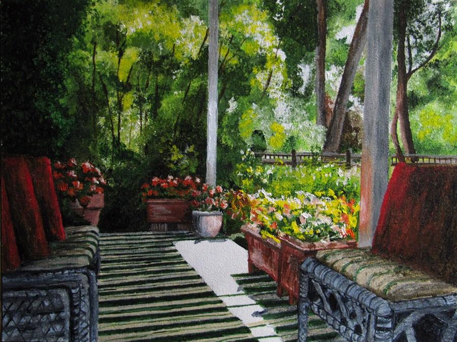 """The Porch"" original fine art by Nan Johnson"