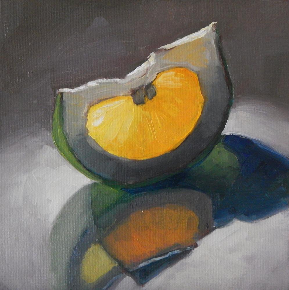 """Pomelo"" original fine art by Lisa Kyle"