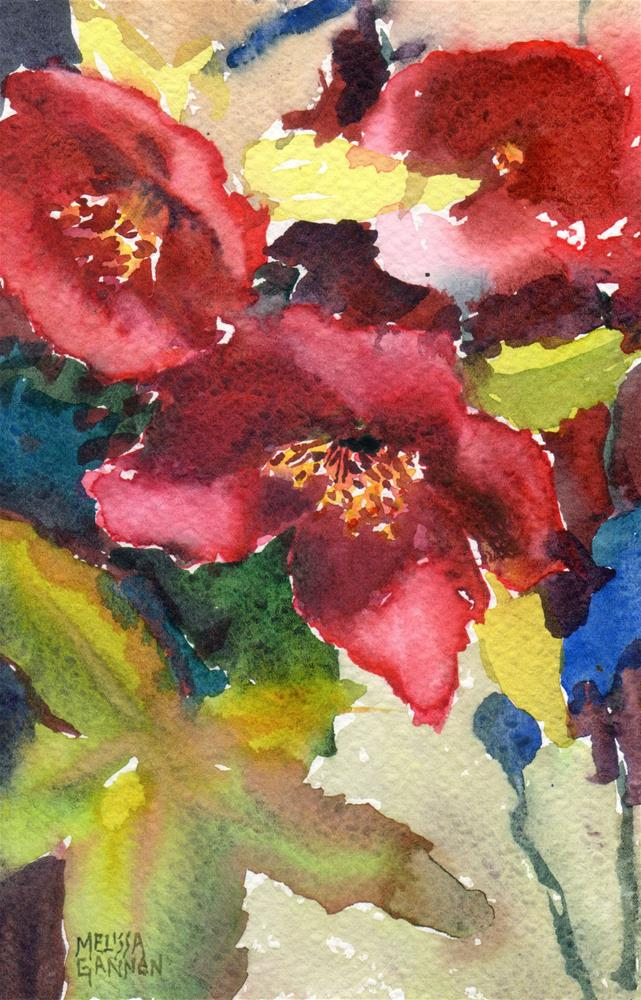 """Hellebore Meet & Greet"" original fine art by Melissa Gannon"
