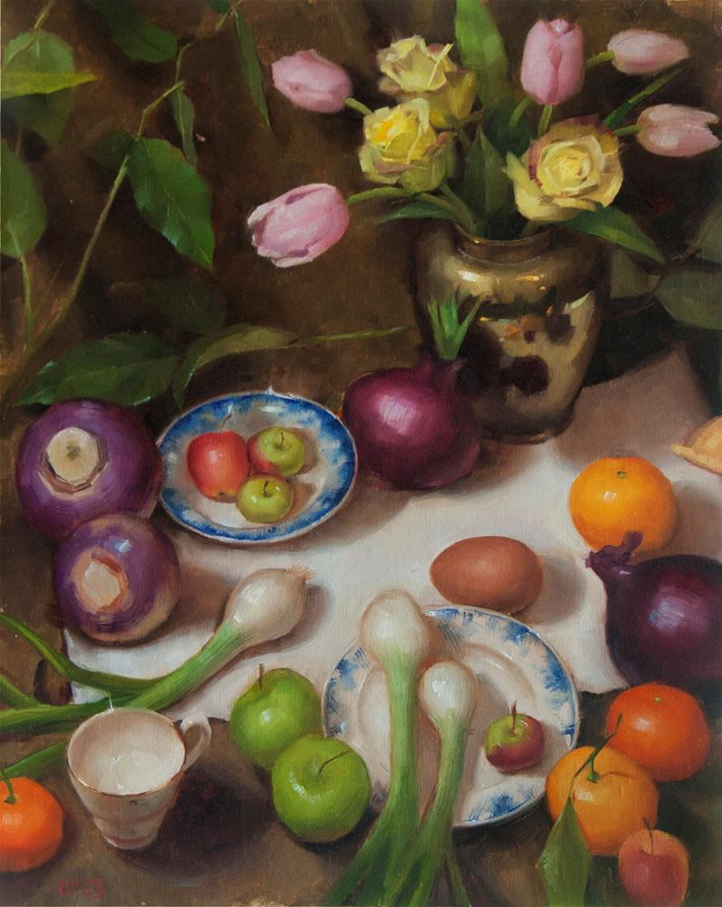 """Arrangement"" original fine art by Catherine Bobkoski"