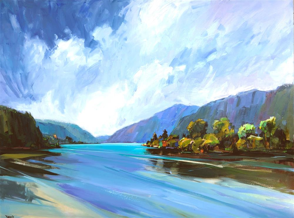 """Columbia River National Scenic Area"" original fine art by Cathleen Rehfeld"