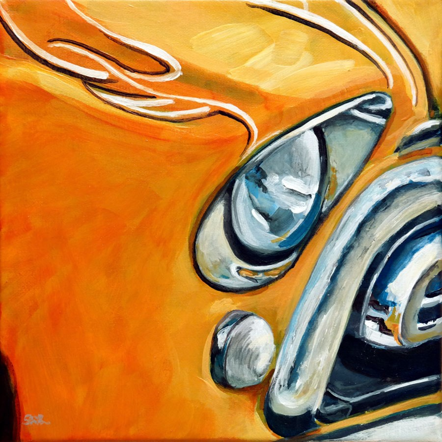 """1194 Chevy Van"" original fine art by Dietmar Stiller"