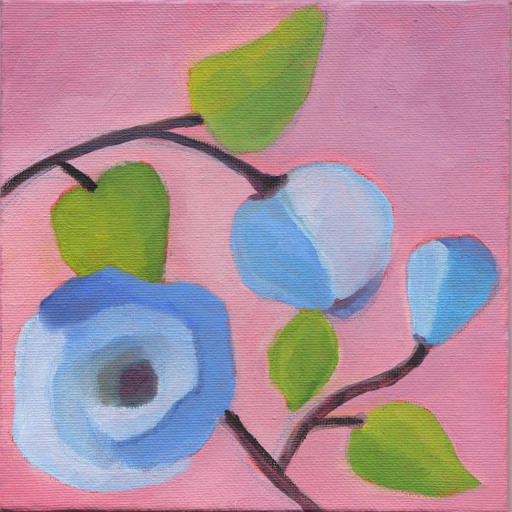 """Blue Poppy"" original fine art by Susan Bertocci"