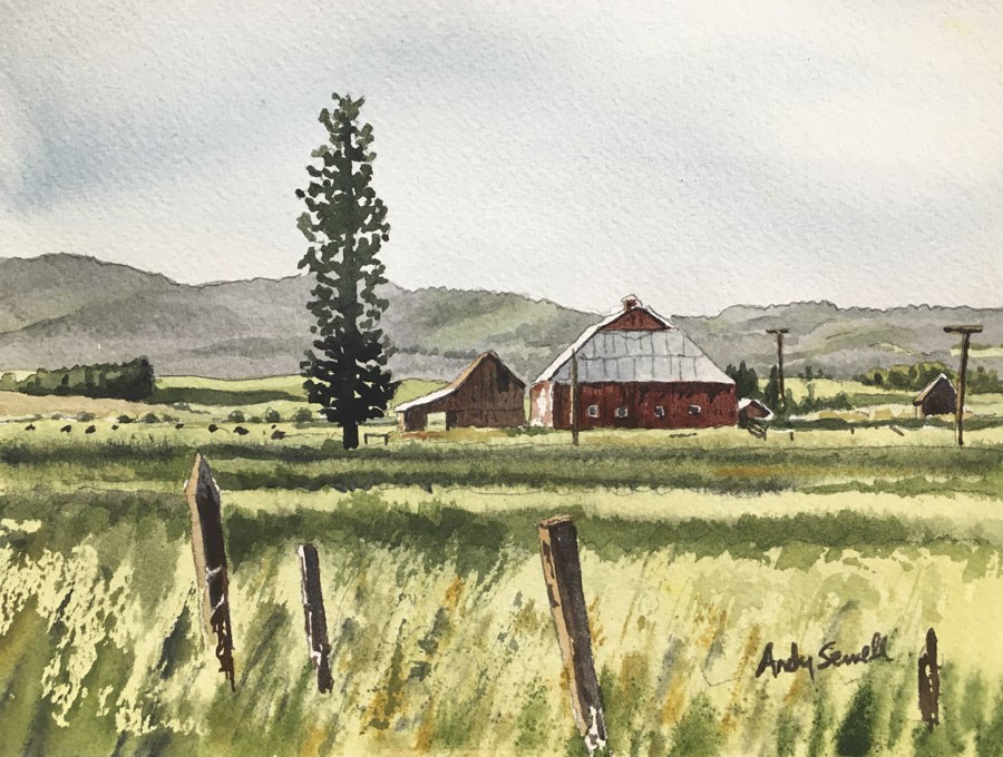"""""""Little bit o country"""" original fine art by Andy Sewell"""
