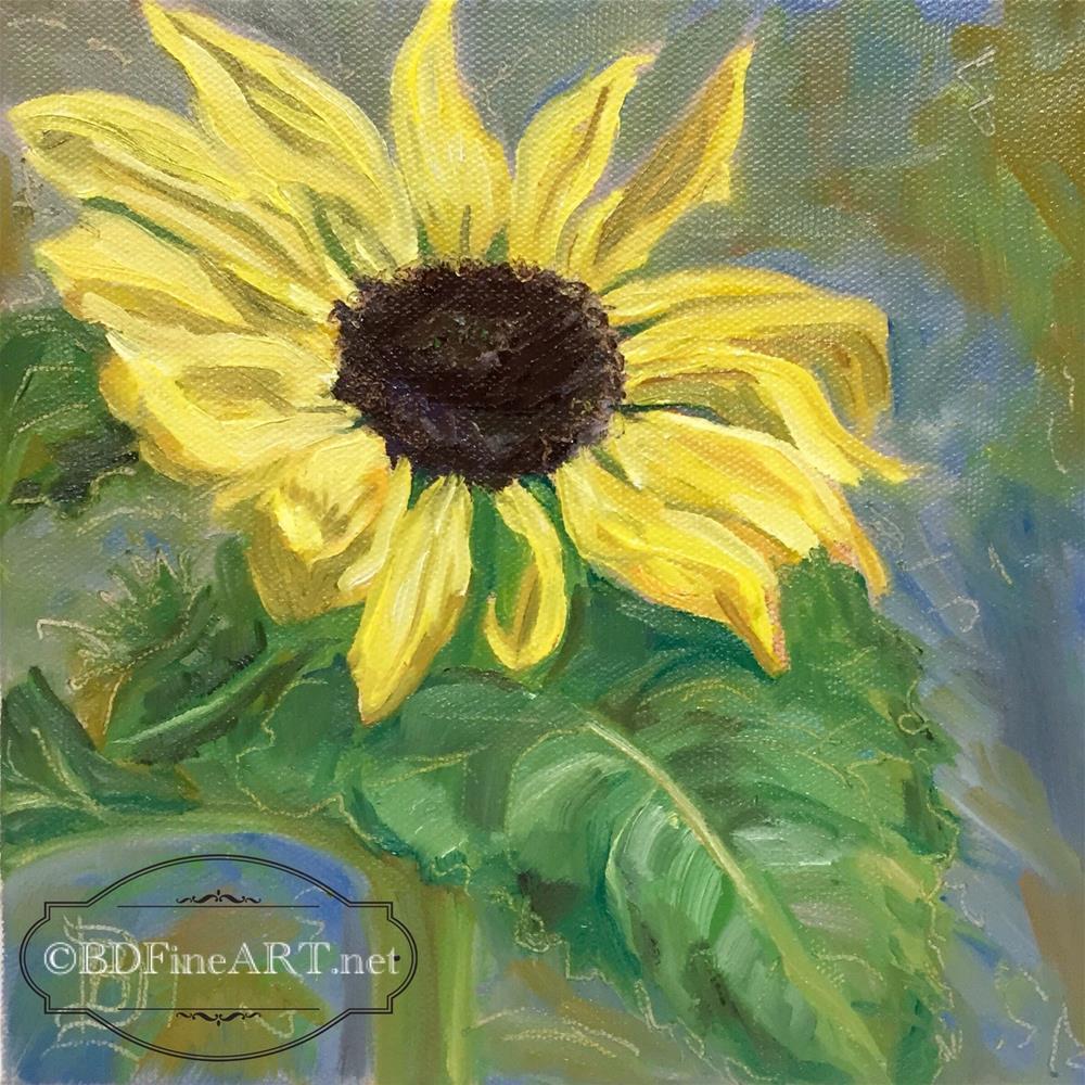 """""""#2 Sunflower"""" original fine art by Bobbie Deuell"""