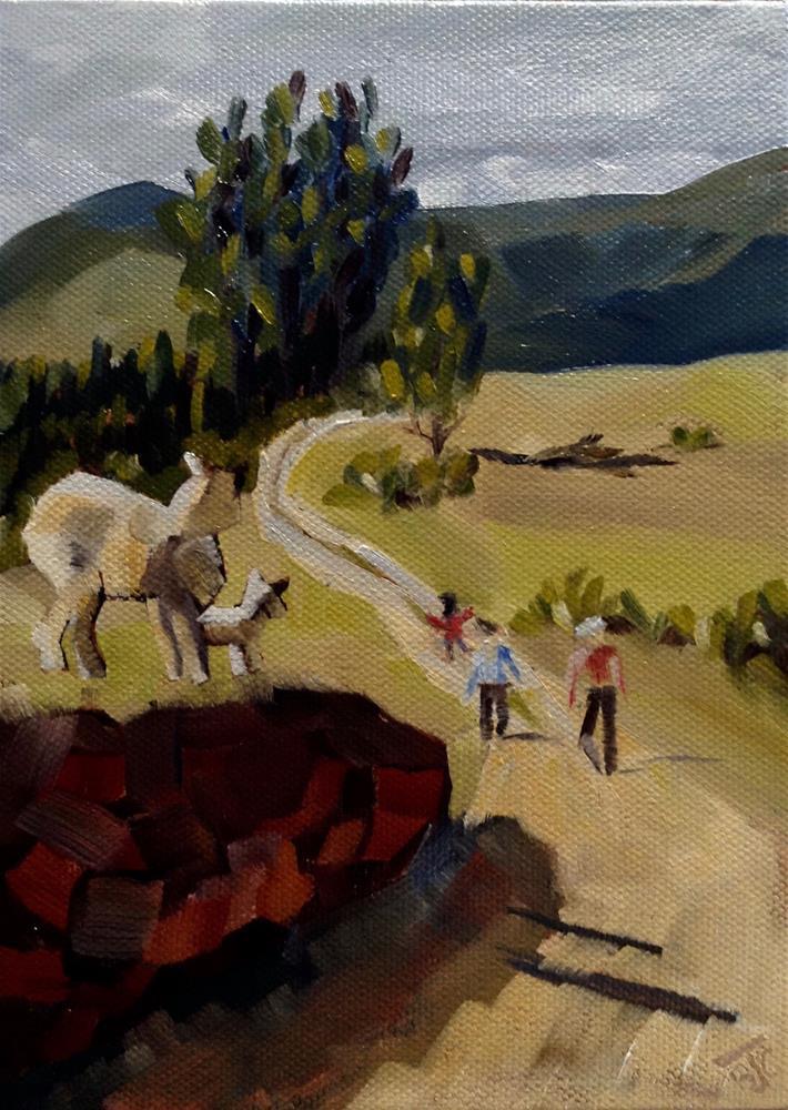 """People Watching"" original fine art by Bobbie Cook"