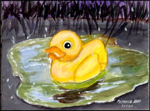 """""""Abandoned in the Rain"""" original fine art by Patricia Ann Rizzo"""