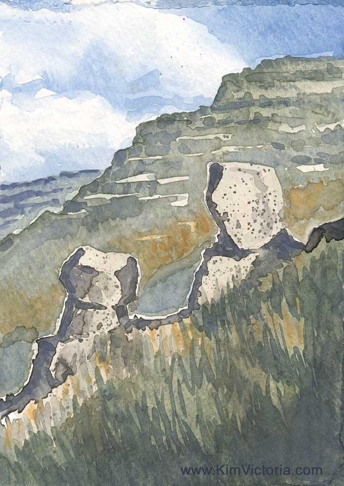 """Ridge Rocks"" original fine art by Kim Victoria"