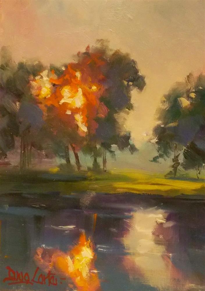"""""""WATER A FIRE"""" original fine art by Doug Carter"""