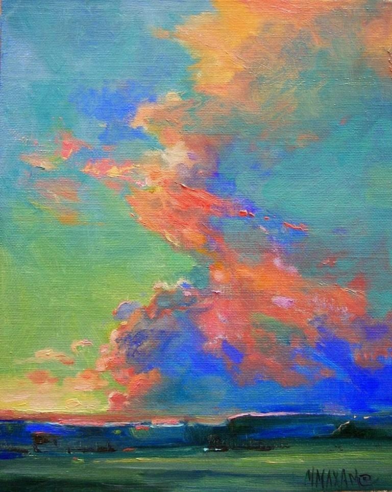 """Rim Light"" original fine art by Mary Maxam"