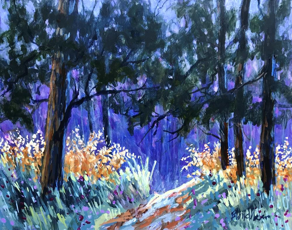 """Lavender Blue"" original fine art by Linda Blondheim"