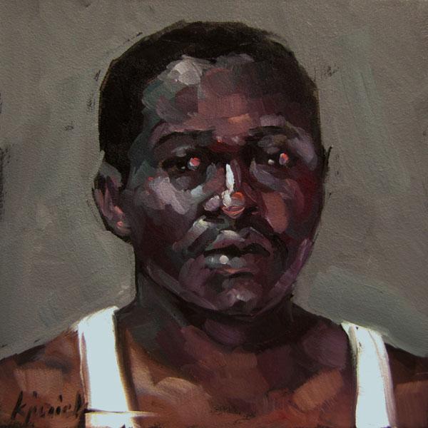 """100 Faces, No. 22"" original fine art by Karin Jurick"