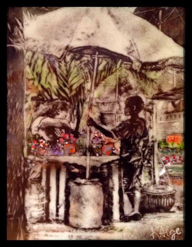 """""""Market Boy"""" original fine art by Kelly Alge"""