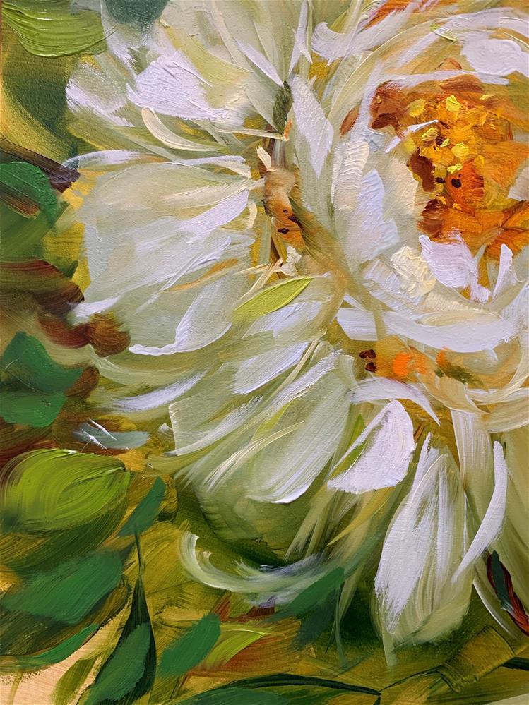 """Before I Sleep White Peony"" original fine art by Nancy Medina"