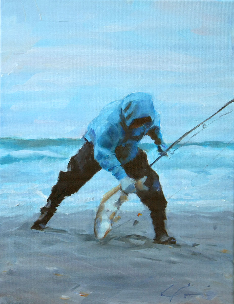 """Catch of the Day"" original fine art by Clair Hartmann"