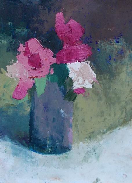 """Pink Roses"" original fine art by Pamela Munger"