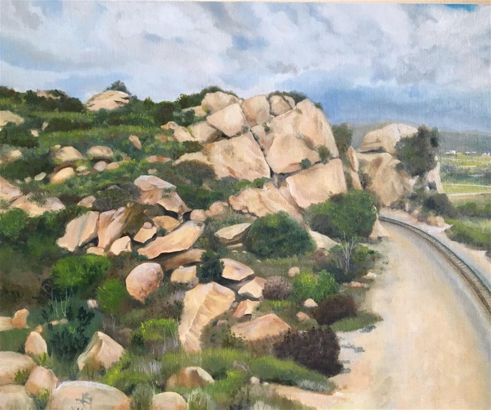 """Chatsworth train tracks"" original fine art by Karen Stitt"