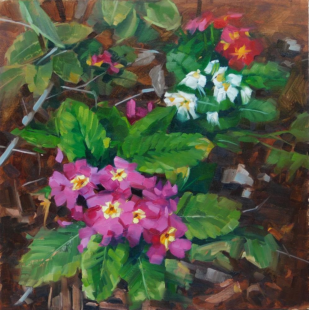 """""""Porch Primrose"""" original fine art by Karen Werner"""