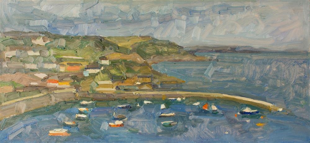 """Mevagissey Bay"" original fine art by Natalia Avdeeva"