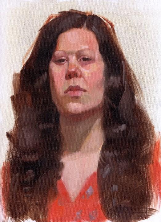 """Portrait class"" original fine art by Kathy Weber"