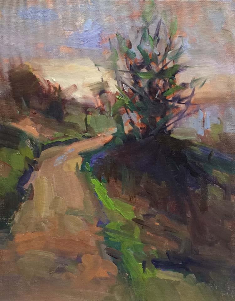 """Early Morning Pisgah Hike"" original fine art by Patti McNutt"