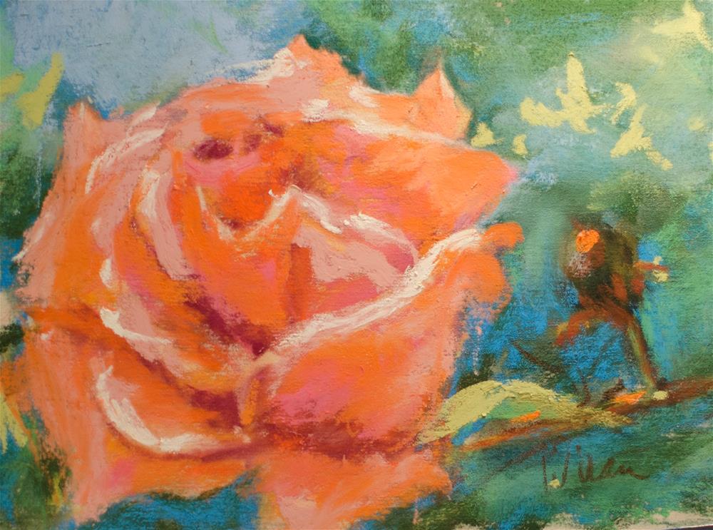 """Peach Color Rose"" original fine art by Judy Wilder Dalton"