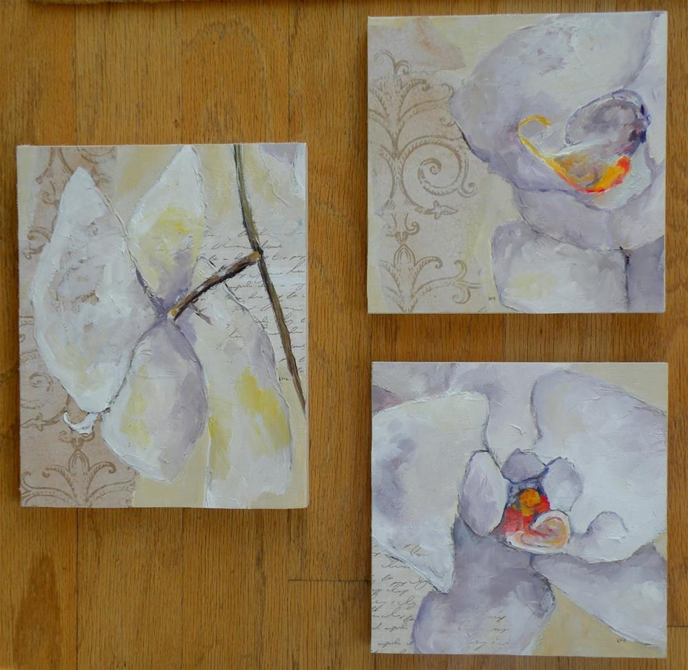 """""""ORCHID TRIO © SAUNDRA LANE GALLOWAY; OUT WITH THE OLD, IN WITH THE NEW!"""" original fine art by Saundra Lane Galloway"""