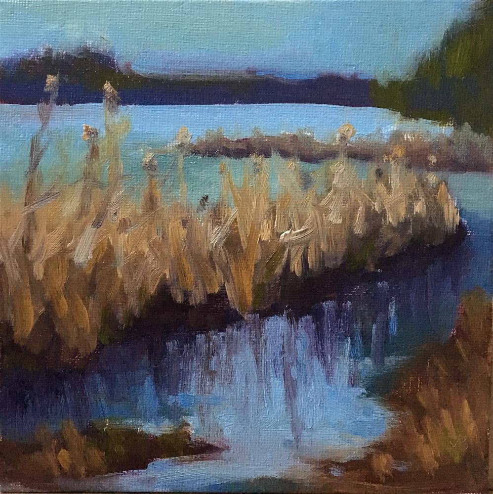 """Winter Wetlands l"" original fine art by Victoria  Biedron"