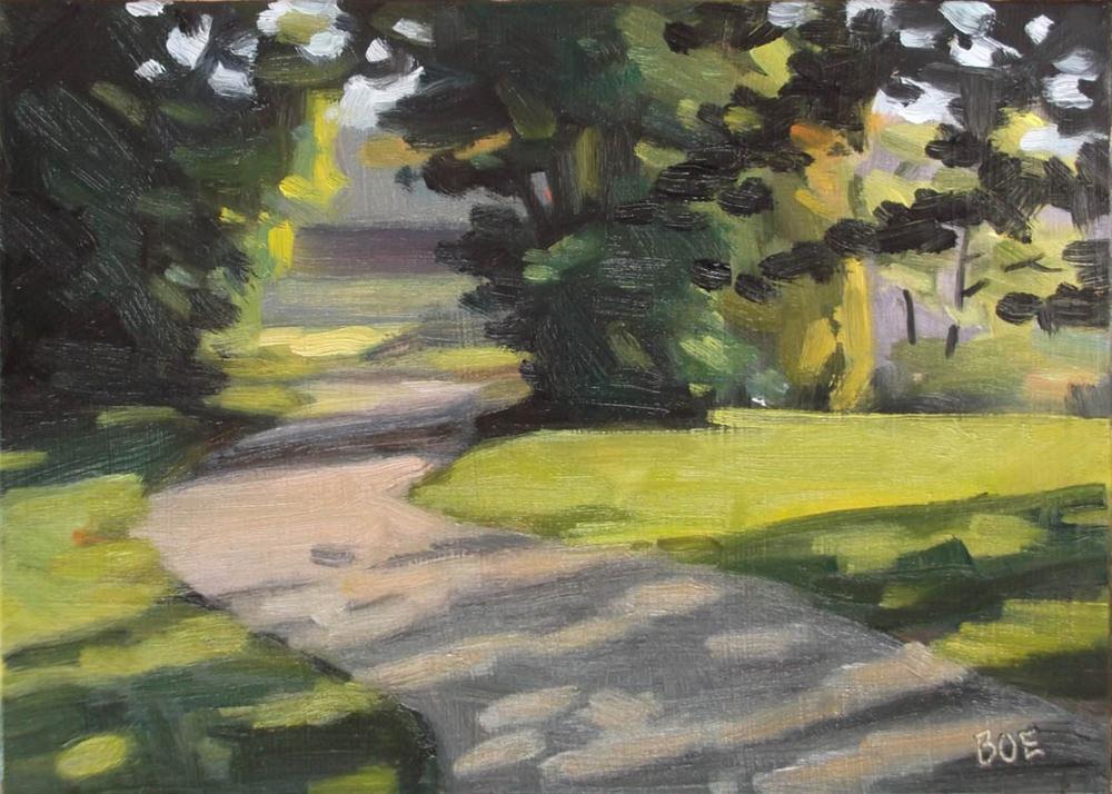 """Postcard Road"" original fine art by Karen Boe"
