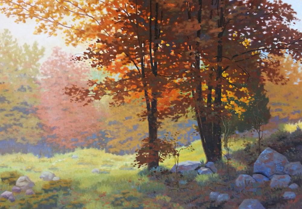 """""""Golden Light in Fall"""" original fine art by Les Dorscheid"""