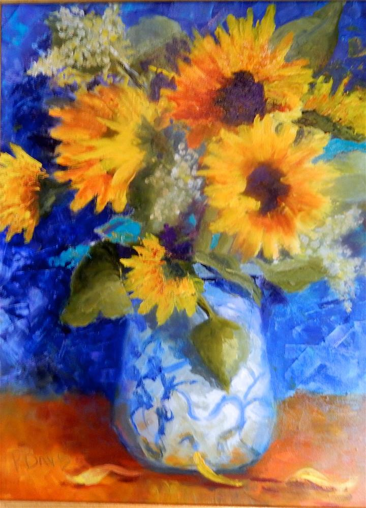 """A Gift from Julie"" original fine art by Phyllis Davis"