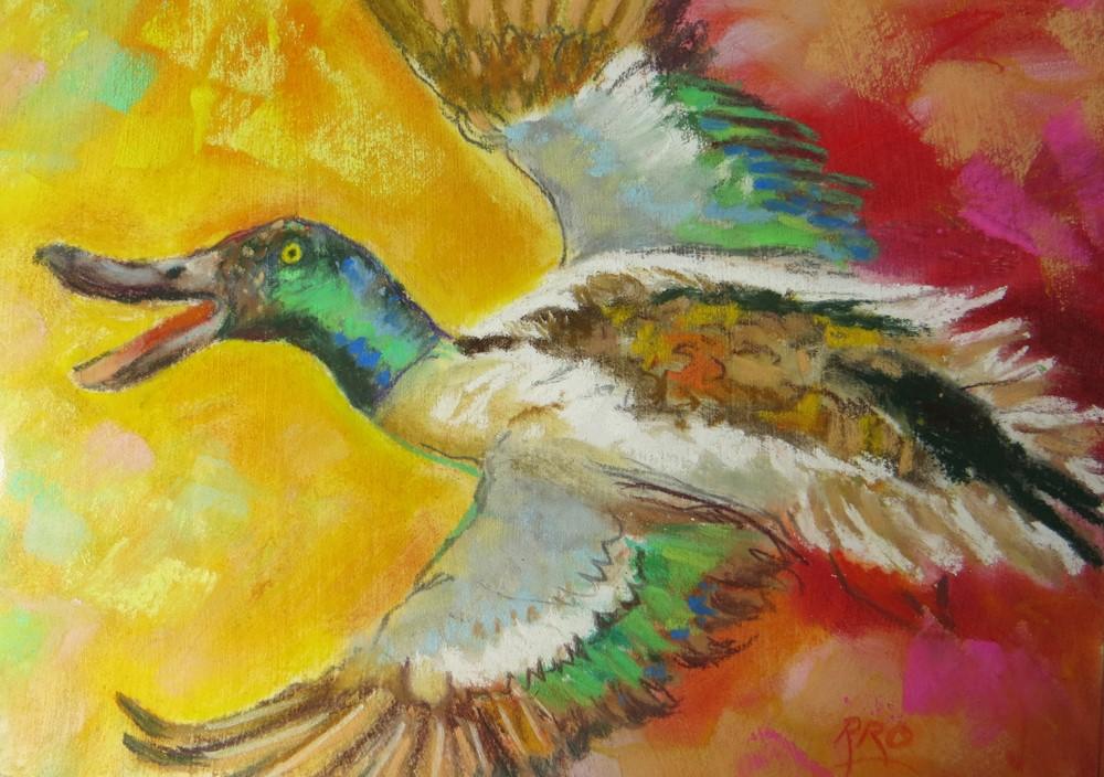 """""""On the Wing"""" original fine art by Rhett Regina Owings"""