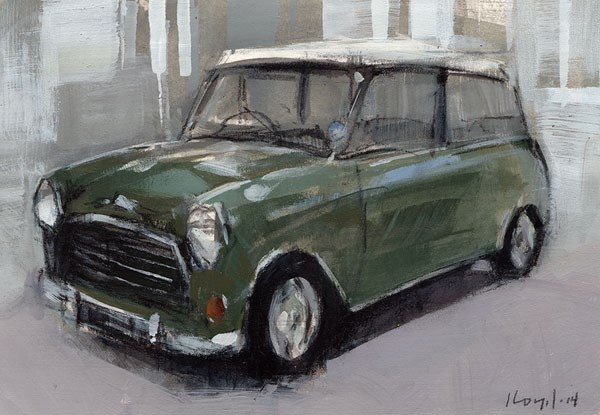 """Green Mini - Sketch"" original fine art by David Lloyd"