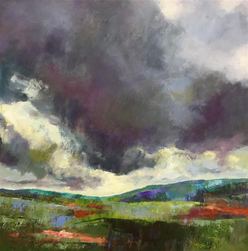 """""""Des Nuages Orageux (Storm Clouds)"""" original fine art by Patricia MacDonald"""