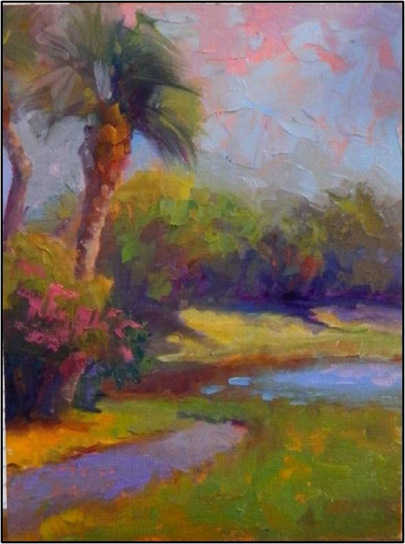 """""""A Familiar Path, plein air, 9x12, oil"""" original fine art by Maryanne Jacobsen"""
