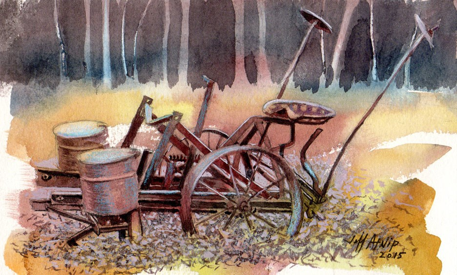 """Corn Planter Revisited"" original fine art by Jeff Atnip"
