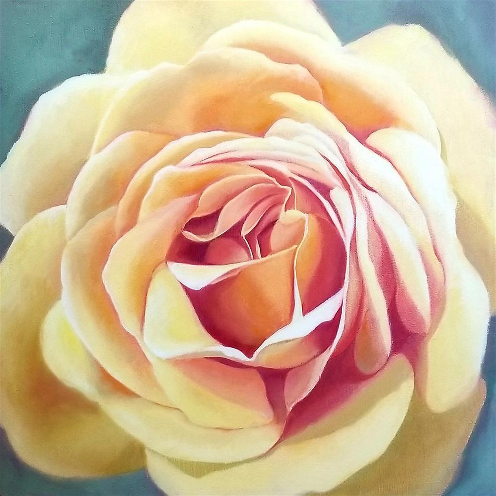 """Golden Yellow Rose"" original fine art by Elaine Brady Smith"