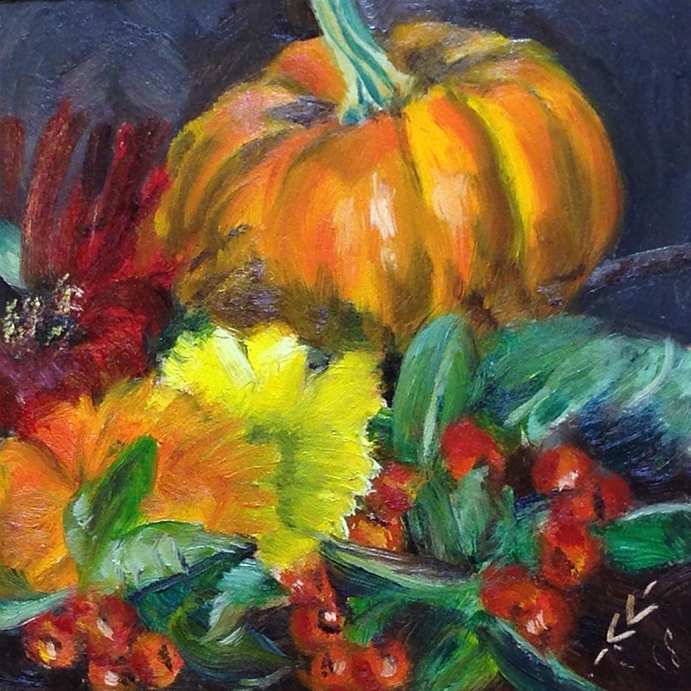 """Fall Things"" original fine art by Linda Lowery"